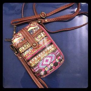 Sakroots wristlet purse/crossbody/wallet combo
